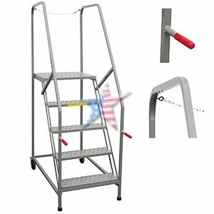 Maintenance Work Platform Rolling Ladder, We Build Platforms Too! Prices on Line, 888.661.0845