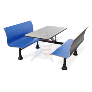 1006W Blue med1 Cafeteria Seating with Steel Seats & Tops, NOT FIBERGLASS, 888.661.0845