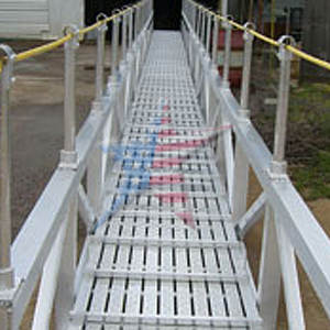 custom aluminum marine walkway We Also Build to Customer Prints or Concepts! Custom Platform Ladders!