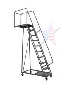 overhang ladder 212x300 Rolling Ladder, We Build Platforms Too! Prices on Line, 888.661.0845