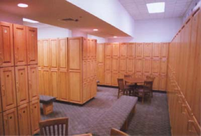 clubhouse lockers 2 Crafted Wood Lockers