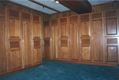 clubhouse lockers Crafted Wood Lockers