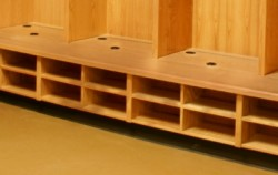 shoe storage e1353110970843 Crafted Wood Lockers