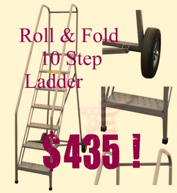 Roll And Fold Ladder Easy To Store 888 661 0845