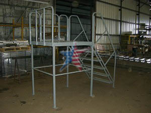 All Welded Steel Access Platform We Also Build to Customer Prints or Concepts! Custom Platform Ladders!