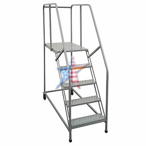 Tilt N Roll Ladder Rolling Ladder, We Build Platforms Too! Prices on Line, 888.661.0845
