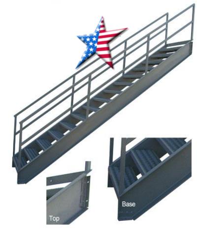 industrial stairway all welded steel