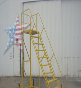 customdesign overhang ladde We Also Build to Customer Prints or Concepts! Custom Platform Ladders!