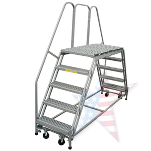 double entry platform single handrail