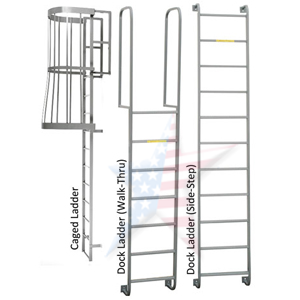 fixed steel ladder for building walls