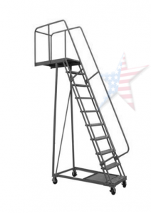 overhang ladder 212x300 Rolling Ladder, We Build Platforms Too! Prices on Line, 888.661.0845