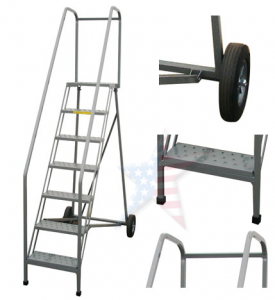roll a fold ladder 275x300 Rolling Ladder, We Build Platforms Too! Prices on Line, 888.661.0845