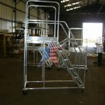 Custom Aluminum Rolling Maintenance Platform